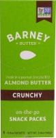 Barney Butter Crunchy Almond Butter Snack Packs 6 Count