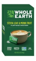 Whole Earth Stevia Leaf & Monk Fruit Natural Sweetener Packets