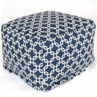 Majestic Home Navy Blue Links Large Ottoman