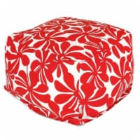 Majestic Home Red Plantation Large Ottoman