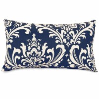 Outdoor Navy Blue French Quarter Small Pillow 12x20