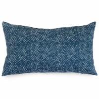 Outdoor Navy Navajo Small Pillow 12x20