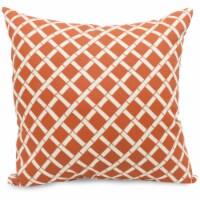 Outdoor Burnt Orange Bamboo Large Pillow 20x20