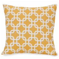 Outdoor Yellow Links Large Pillow 20x20