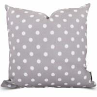 Outdoor Gray Ikat Dot Large Pillow 20x20