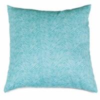 Outdoor Teal Navajo Large Pillow 20x20