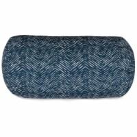 Outdoor Navy Navajo Round Bolster Pillow 18.5x8
