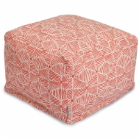 Majestic Home 85907237060 Charlie Salmon Ottoman - 27 x 27 x 17 in. - 1