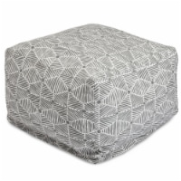 Majestic Home 85907237061 Charlie Gray Ottoman - 27 x 27 x 17 in. - 1
