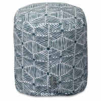 Majestic Home 85907239062 Charlie Emerald Pouf - 16 x 16 x 17 in. - 1