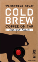 Wandering Bear Fair Trade Certified Organic Straight Black Cold Brew Coffee On Tap