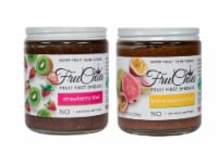 FruChia Variety Pack Strawberry-Kiwi & Guava-Passion Fruit All Natural Fruit First Spread