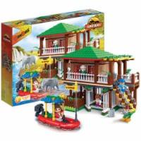 BanBao Interlocking Blocks Safari Tour Building Set (456 Pieces and 5 Mini-Figures)