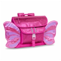 Bixbee Medium Sparkalicious Butterflyer Backpack - Ruby