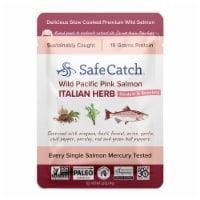Safe Catch Wild Pacific Pink Salmon Italian Herb Pouch - 2.6 oz