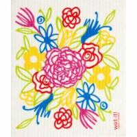 Wet-It 6004962 Cellulose & Cotton Floral Bouquet Dish Cloth, Multi Color - 1