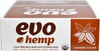 Evo Hemp  Hemp Fruit & Nut Bars   Cashew Cacao