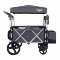 Keenz 7S Push Pull Baby Toddler Kids Wheeled Stroller Wagon with Canopy, Gray - 1 Unit