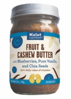 Kalot Superfood Blueberries Pure Vanilla and Chia Seeds Fruit & Cashew Butter - 12 oz