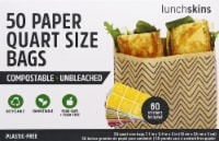 Lunchskins Quart-Size Bags 50 Pack