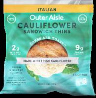 Outer Aisle Plant Power Cauliflower Italian Sandwich Thins - 6.75 oz