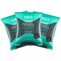 Fitness Wipes, Body Cleansing Wipes, Clean Off Odor, (Mint Scent), Pack of 3 (20 ct/pack) - 1