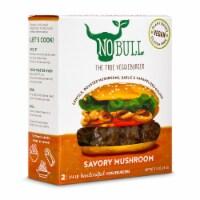 NoBull Savory Mushroom Veggie Burgers