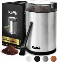 Electric Coffee Grinder - Stainless Steel - 3oz Capacity. Easy On/Off. Cleaning Brush Incl. - 3 oz