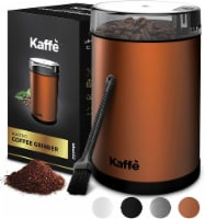 Electric Coffee Grinder - Copper - 3oz Capacity. Easy On/Off. Cleaning Brush Incl. - 3 oz