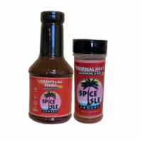 Spice Isle Sauces Tropical Heat 2-Pack - 2 bottles-18.5 & 6.35 oz.