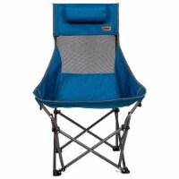 Mac Sports XP High Back Folding Portable Compact Lightweight Camping Chair, Blue - 1 Piece