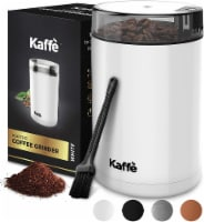 Electric Coffee Grinder - White - 3oz Capacity. Easy On/Off. Cleaning Brush Incl. - 3 oz