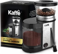 Electric Burr Coffee Grinder. Stainless Steel - 20 Settings (4.5oz Capacity) Cleaning Brush! - 4.5 oz