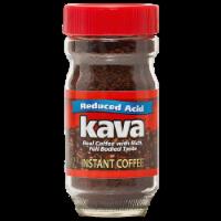 Kava Reduced Low-Acid Instant Coffee, 4 Ounce Glass Jar - 4 Ounce Jar
