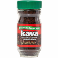 Kava Decaf Reduced Low-Acid Instant Coffee, 4 Ounce Glass Jar