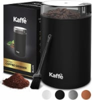 Electric Coffee Grinder - Matte Black - 3oz Capacity. Easy On/Off. Cleaning Brush Incl. - 3 oz