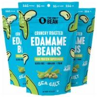The Only Bean - Crunchy Roasted Edamame Beans (Sea Salt) - Healthy Snacks (4.0oz) (3 Pack) - Ounce
