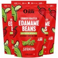 The Only Bean - Crunchy Roasted Edamame Beans (Sriracha) - Healthy Snacks (4.0oz) (3 Pack) - Ounce
