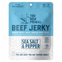 The New Primal Gluten Free Sea Salt & Pepper Grass Fed Beef Jerky - 2 oz