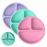 Silicone Suction Plates - Pink, Mint, Lavender