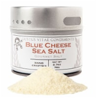 Gustus Vitae  Gourmet Salt In Magnetic Tin   Blue Cheese Sea Salt