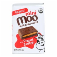 Moo Mini Milk Chocolate With Peanut Butter  - Case of 14 - .07 OZ - Case of 14 - .07 OZ each