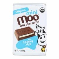 Organic Mini Moo Milk Chocolate Candy  - Case of 14 - .07 OZ - Case of 14 - .07 OZ each