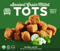 RollinGreens Organic Basil & Garlic Ancient Grain Millet Tots