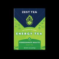 Zest Tea Pomegranate Mojito Energy Green Tea - 15 ct