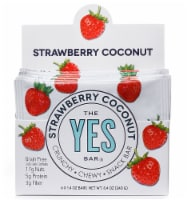 The YES Bar  Gluten Free Real Food Paleo Snack Bar   Strawberry Coconut - 6 Bars