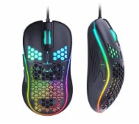 USB RGB Gaming Mouse, Honeycomb Lightweight Gaming Mouse 7200DPI, RGB Backlit and 6 Programma - 1