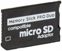 SANOXY Single slot MicroSDHC, MICRO SD to Memory Stick Pro Duo Adaptor - 1