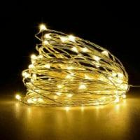 LED Christmas Tree Fairy String Party Lights Lamp Xmas Waterproof (warm white 50 LED) - 1
