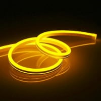12V Flexible LED Strip Waterproof Sign Neon Lights Silicone Tube (2M - 6.6 FT) yellow - 1